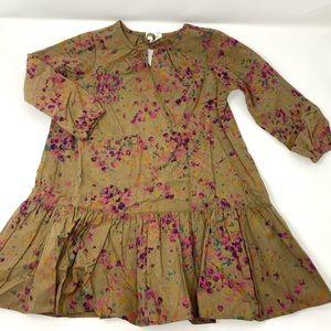 Neige Floral Long Sleeve Dress Size 3